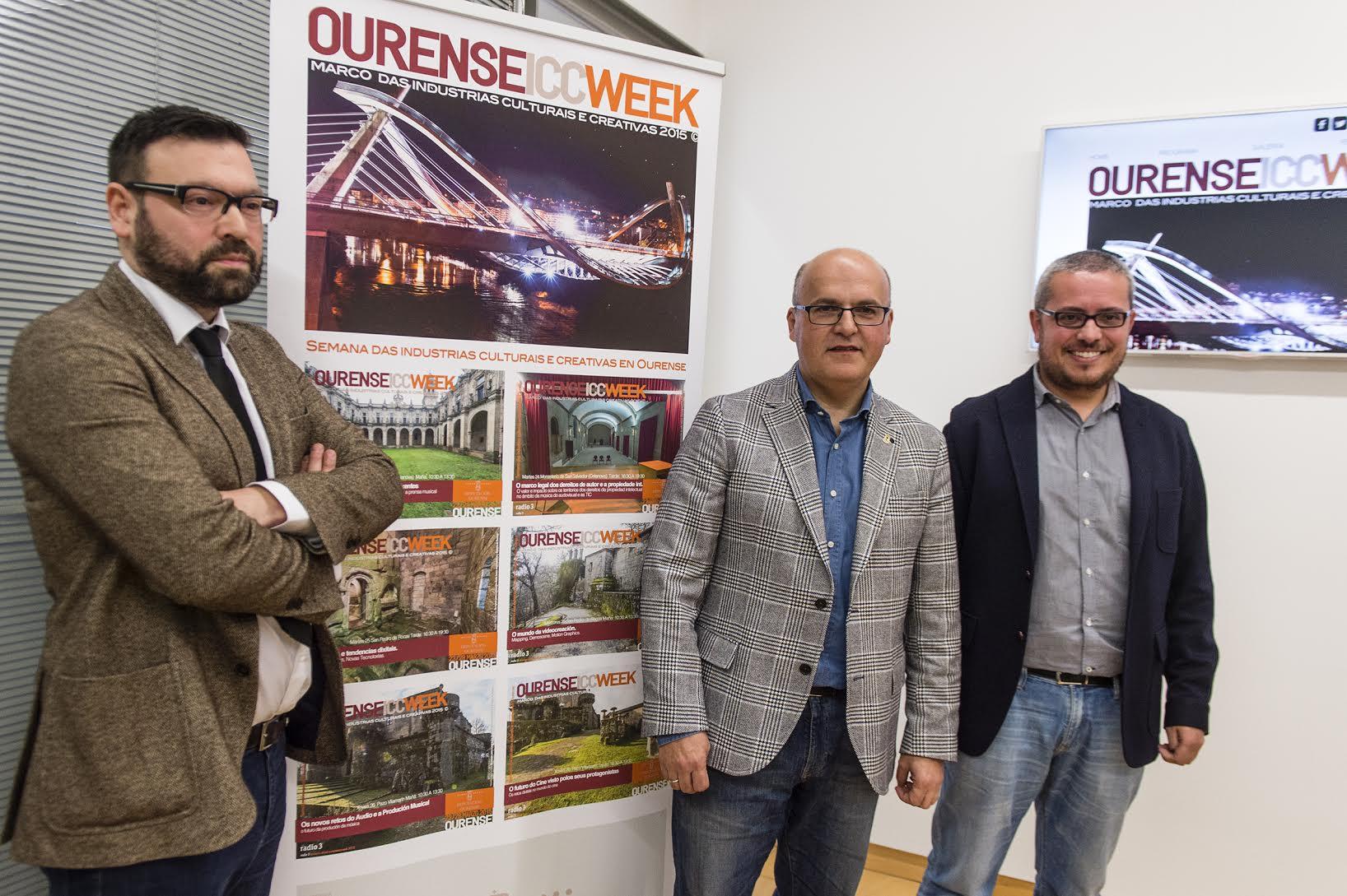 Presentación con Diputación de Ourense, Presidente: Manuel Baltar y Asesor de Cultura: Cesar Gil, Juan Rivas : Coordinador Técnico